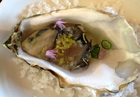 Chilled, glazed oyster