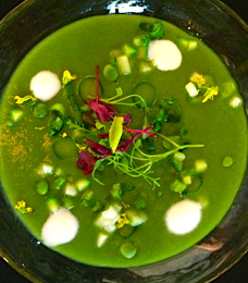 Chilled spring vegetable soup