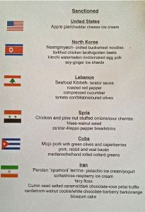 sanctioned menu